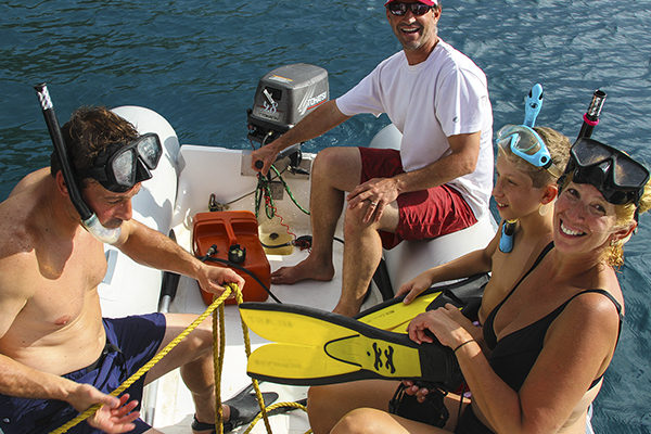 Snorkel adventures straight from the sail boat!