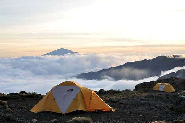 Camp above the clouds