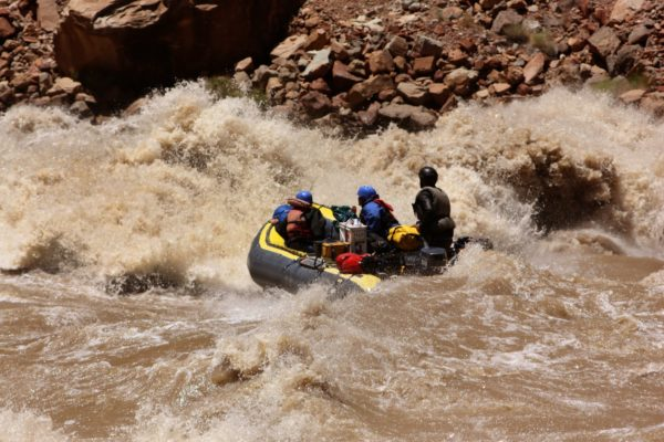Heading into the rapids, Colorado River
