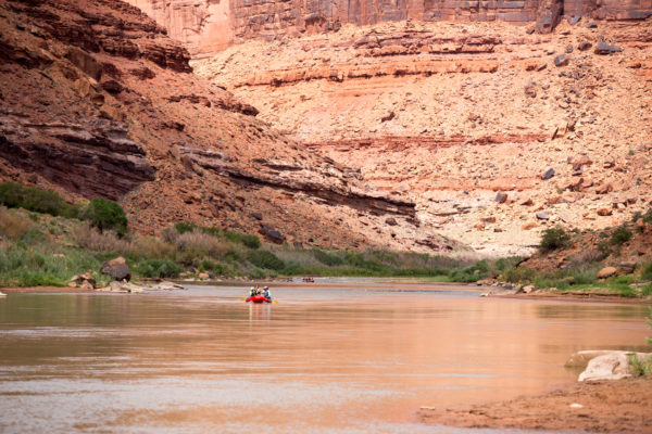 Lazy river section on the Colorado River