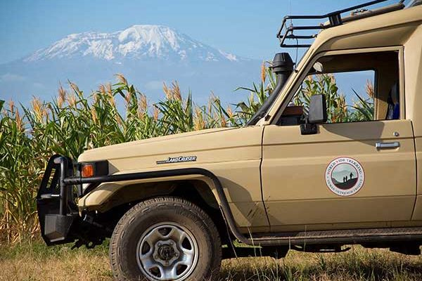 Our safe and comfortable safari vehicle