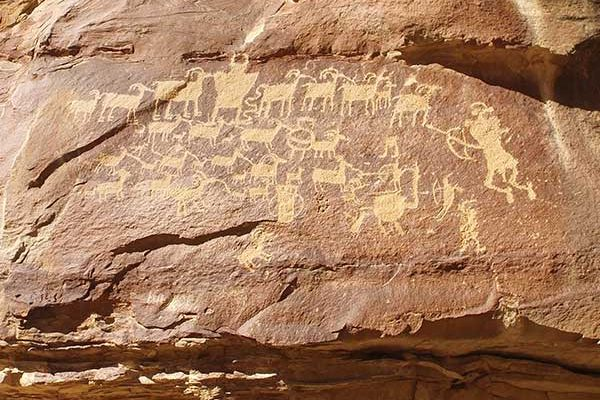 Hunter Panel Petroglyphs