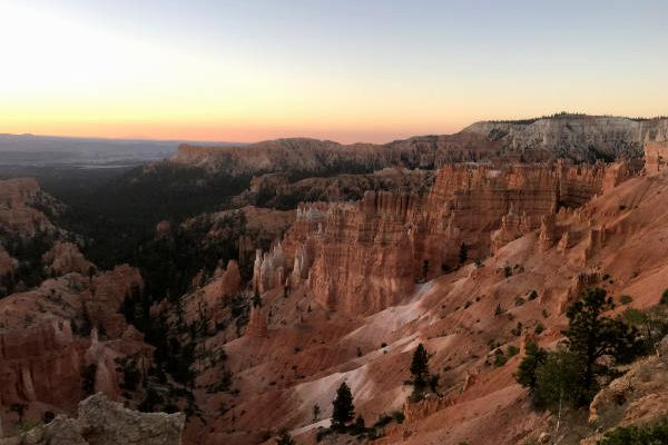 First light of the day in Bryce Canyon National Park