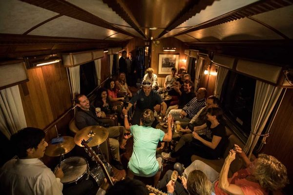 Live music on the Hiram Bingham Train